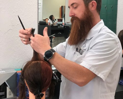 Trimming Dummy Hair